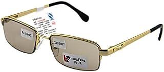 ナチュラルクリスタルストーンメガネスモールフレーム男性スタイル太陽の鏡は、疲れ防止サングラス、ゴールドフレームティースライスの目を保護するために目を保つために新鮮でクールです。