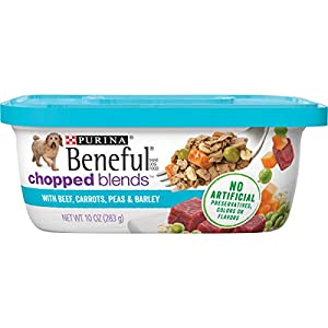 Purina Beneful Wet Dog Food, Chopped Blends With Beef – (8) 10 oz. Tubs