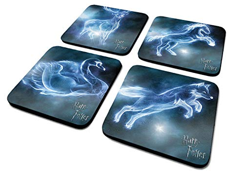 Harry Potter 'Patronus' 4 Untersetzer Set, 10 x 10 cm