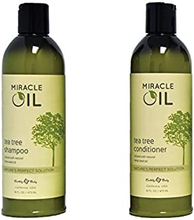 Earthly Body Miracle Oil Tea Tree Shampoo & Conditioner Set, 16 Ounce…