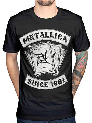 Distribuidor oficial de Metallica desde 1981 Camiseta Heavy Metal Thrash Band