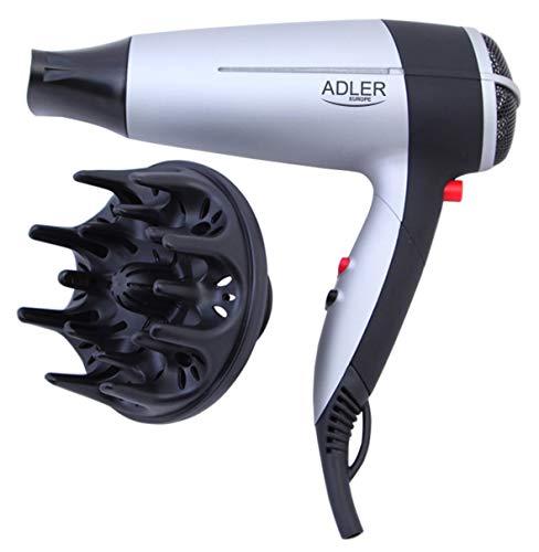 Adler ad2239 – Sèche-cheveux 2000 W, couleur argent et noir