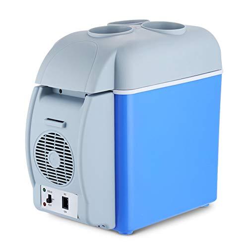 ZXL koelkast, energiebesparing, draagbare tafelkoelkast met koel- en warmtefunctie, ideaal voor slaapkamers en kleine kantoren, 7,5 l