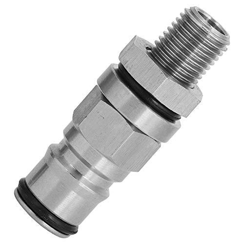 Changor Piezas de Barril Partes, Vida útil Hecha de 304 Acero Inoxidable 55 mm Resistencia a la presión (Plata)