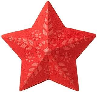 Ikea Pendant lamp shade, star red 14