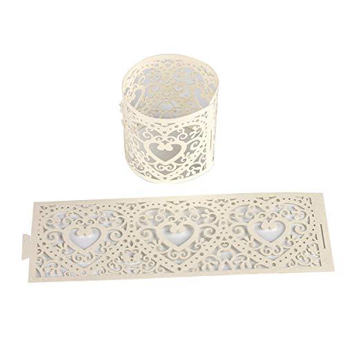 STOBOK Led Papier Teelichthalter Kerzenhalter Papier Wrapper Teelicht oder Votivkerze Kerze Halter Deko 10 STÜCKE