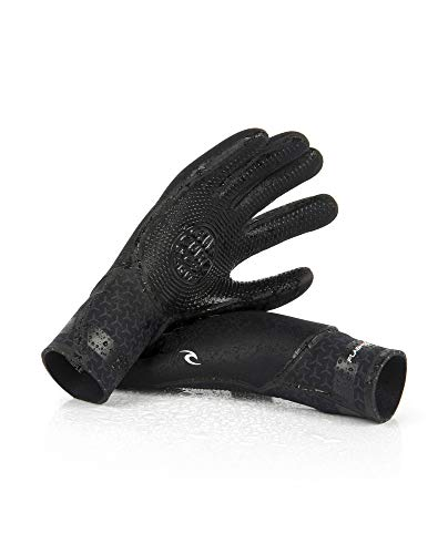 Rip Curl Fashbomb 5 Finger Wetsuit Gloves | 5/3mm | Durable Surfing Gloves, Textured Grip | Use with Surfing Wetsuits for Men and Women | for All Watersports, Diving, Kayaking, Snorkeling