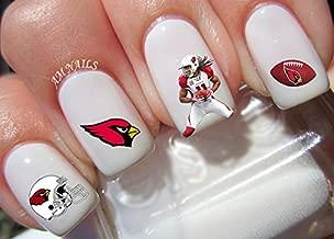 Arizona Cardinals Water Nail Art Transfers Stickers Decals - Set of 36