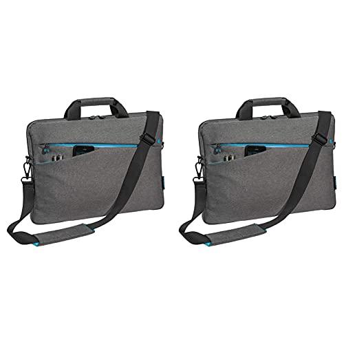 Pedea Laptoptasche Fashion Notebook-Tasche bis 13,3 Zoll (33,8 cm) Umhängetasche, grau & Laptoptasche Fashion Notebook-Tasche bis 15,6 Zoll (39,6 cm) Umhängetasche mit Schultergurt, grau