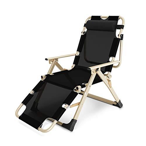 Xiao Jian- Chaise Longue Pliante Chaise Longue Chaise De Jardin Inclinable for Solarium Extérieur Bureau Plage Inclinable Extra Large Chaise Longue De Patio Chaises de Jardin