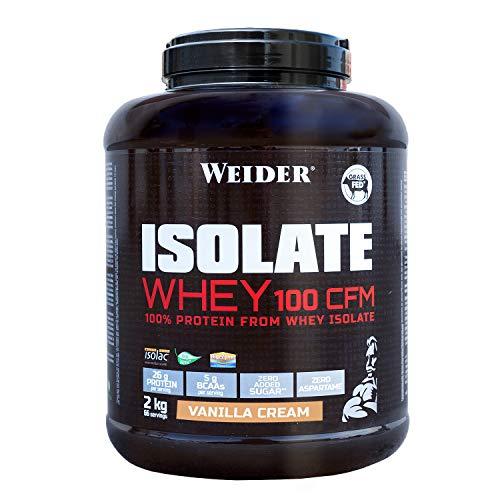 WEIDER Isolate Whey 100 CFM, hochwertiges Molkenproteinisolat, Vanille Eiweißpulver, 2kg