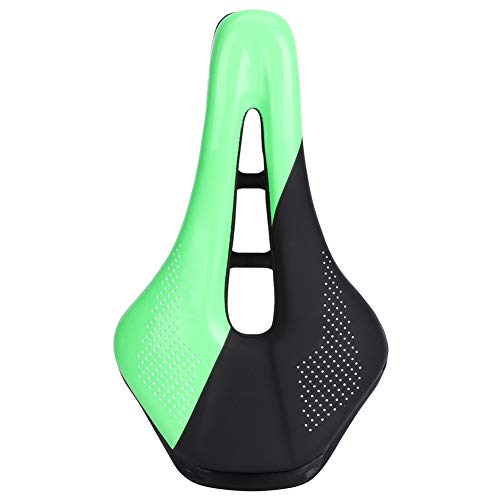 OhhGo Bike Saddle Hollow Breathable Seat Comfortable Cycling Equipment for Mountain Road Bicycle Black Green