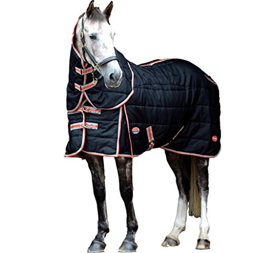 Weatherbeeta Comfitec Stable Blanket with Therapy-Tec Channel Quilt Detach-A-Neck Medium Black/Red/Silver 78