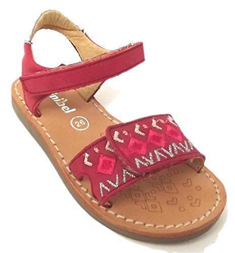 Minibel - Chaussures Noel - Sandales - Nu Pieds - MODELE PORQUEROL Carmin - Taille 33 EU