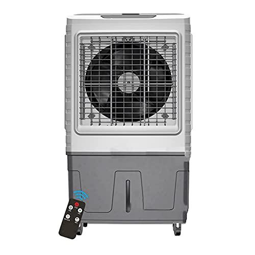 XPfj Enfriador de aire portátil para uso doméstico grande con mando a distancia y 4 bolsas de hielo, pantalla LED, temporizador de 18 horas, 3 velocidades, capacidad de 60L