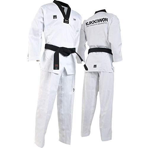 Mooto Uniforme de Taekwondo kukkiwon Uniforme tae kwon do dobok Monde coréen (170 (Height : 170~179cm)(5.58~5.87ft))