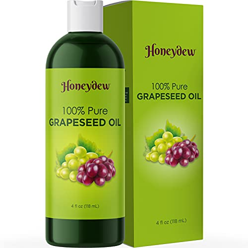 Pure Grape Seed Oil Liquid - Cold Pressed Grapeseed Oil for Face Care and Moisturizing Body Oil for Dry Skin Care - Natural Vitamin E Anti Aging Oil for Hair Skin and Nails and Face Oil for Dry Skin