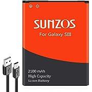 Galaxy S3 Akku SUNZOS Akku für Samsung Galaxy S3 EB-L1G6LLU GT-i9300 / S3 LTE GT-i9305 / S3 NEO GT-i9301 Accu Batterie - 3 Jahre Garantie