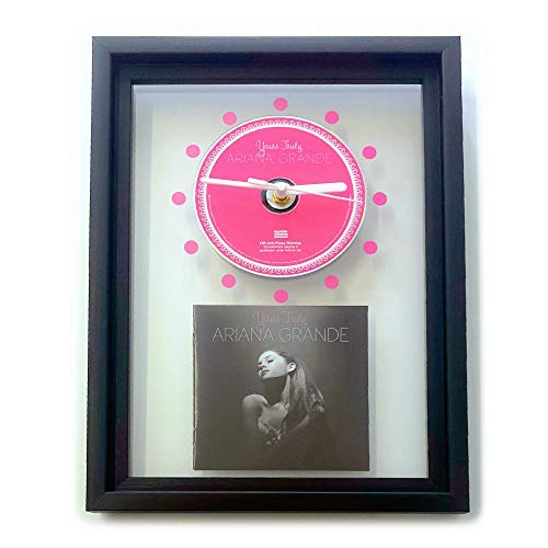 ARIANA GRANDE - Yours Truly: GERAHMTE CD-WANDUHR/Exklusives Design
