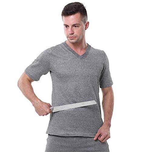 Stichfeste Weste Und Shorts, Messersichere Hppe Level 5 Schnittfeste, Gestrickte Unsichtbare Schutzkleidung, ErfüLlt Die En388 Ce-Zertifizierung,Shortsleeve,XL