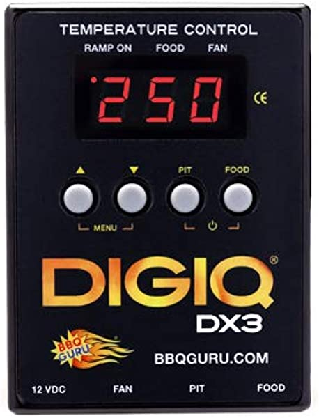 DigiQ DX3 BBQ Temperature Controller Digital Meat Thermometer With Universal Adaptor Big Green Egg And Weber