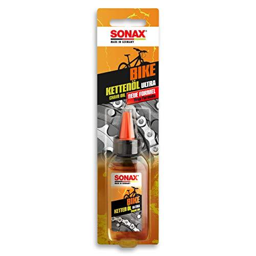 SONAX BIKE Silikon KettenPflegeÖl Ultra (50 ml) - für extreme Belastungen & schnell laufende Ketten, Wasser-, staub-, & schmutzabweisend, Lösemittelfrei, Silikonöl | Art-Nr. 08635410