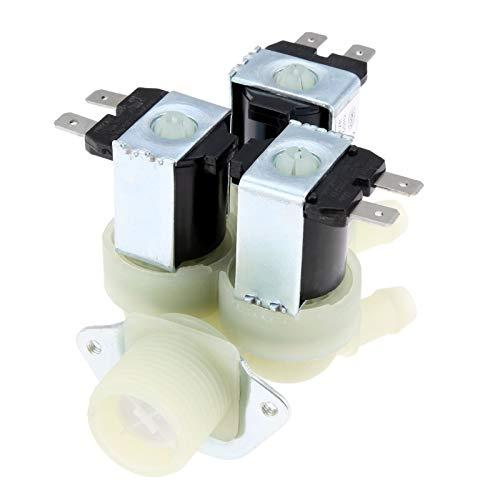 TangMengYun Válvulas de Solenoide 52221er1003A Lavadora Válvula de Entrada de Agua Ajuste Compatible con LG Kenmore Sears Laver 5221ER1003A (5220FR2075L)