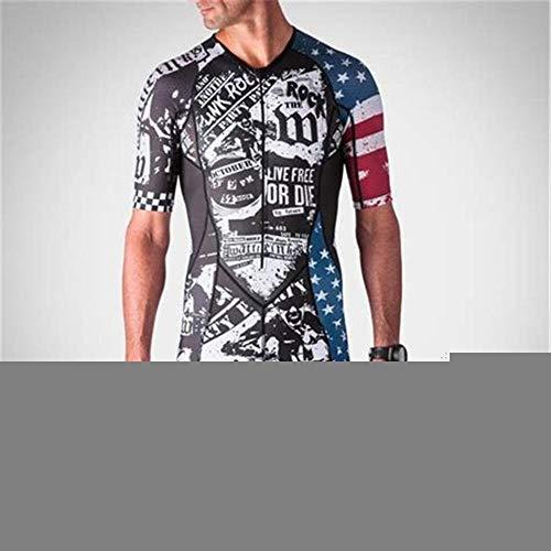 NHGFP QPM Jersey De Triatlón Skinsuit Vestimenta De Ciclismo Salpicaduras Hombre En Bicicleta Conjunto De Cuerpo Juego De Los Deportes De Velocidad MTB Mono (Color : 9, Size : XXL)