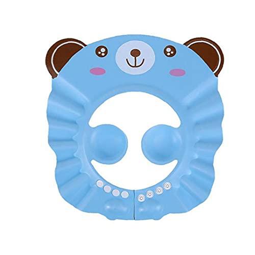 Guardia De Agua Sombreros para Niños Pequeños Baby Shampoo Cap Ajustable Toddler Ducha Protección Oreja Escudo Sol Sombreado Sombrero Sombrero Azul