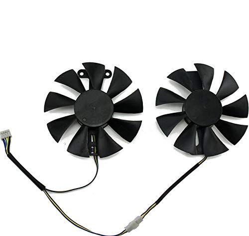 PIAO piaopiao Ajuste para GA91S2U POWERCOLOR Rojo DIROBO RX580 GPU Refrigerador de refrigeración Ajuste para Radeon Red Dragon AX RX 480 470 580 Tarjetas de Video como Ventilador de reemplazo