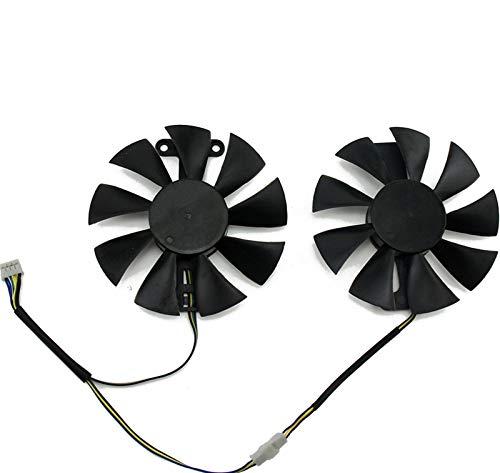 miaomiao Fit für GA91S2U PowerColor Red Devil RX580 GPU Kühler Lüfter Fit für Radeon Rot Drachen AX RX 480 470 580 Grafikkarten als Ersatzlüfter Service