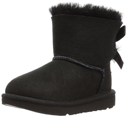 UGG Kid's Female Mini Bailey Bow II Classic Boot, Black, 5 (UK)