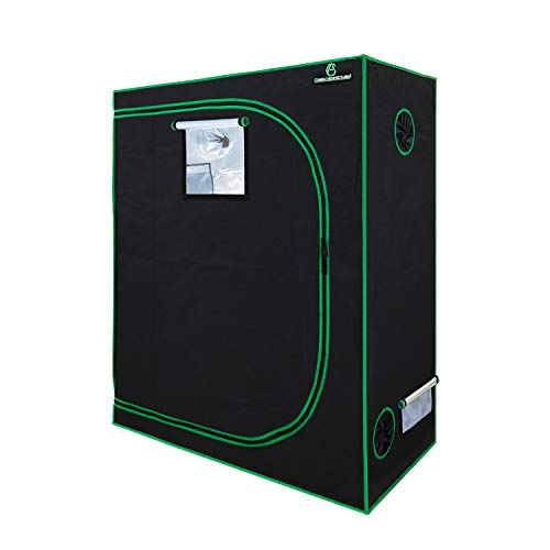 GA Grow Tent 120x60x150 CM 48'x24'x60' Reflective Mylar Hydroponic Grow Tent with Observation Window and Waterproof Floor Tray for Indoor Plant Growing (120x60x150cm)