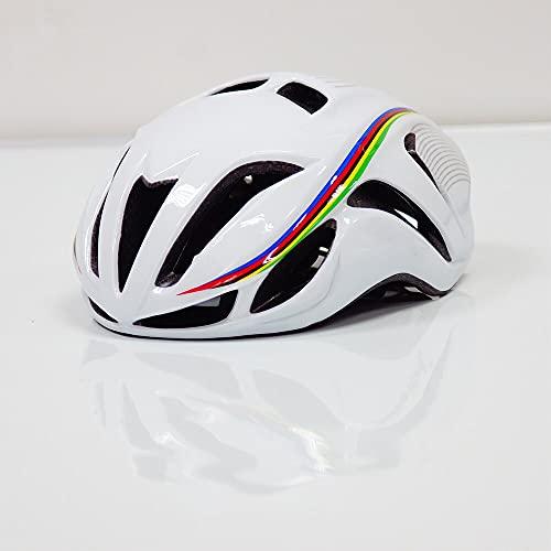 cnmd Fahrradhelme für Männer und Frauen, die Straße Fahren, ultraleichter Mountainbike-Helm, Reitausrüstung weiß