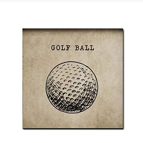 zhaoyangeng Vintage Golfball | Leinwandbilder, Sportplakate, Drucke, Fans Von Jungen, Wandbilder, Wohnkultur, Kinderzimmer - 50X50Cm Ungerahmt