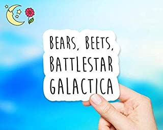 Bears, Beets, Battlestar Galactica Sticker - for Laptops, Water Bottles and Cell Phones