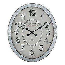Cooper Classics Hudson Galvanized Metal Wall Clock