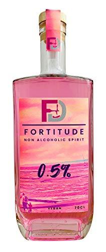Fortitude, rosa Erdbeere, alkoholfreier Spiritus, 70 cl, 0,5 % – alkoholfreier Gin, Spritz oder aromatisierter Wodka-Alternative – glutenfrei & vegan.