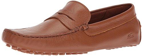 Lacoste Men's Concours Shoes,Tan leather,7.5 Medium US