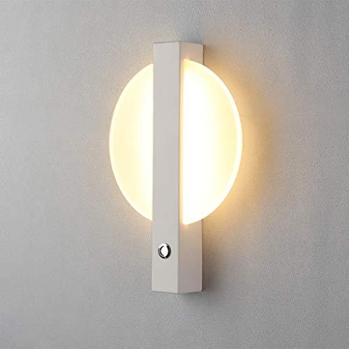 ZHOUBAOBAO Lámpara De Pared Accesorios De Iluminación De Pared Interior Apliques Led De 7W para Sala De Estar Baño Polvo Pasillo lámpara de Pared (Color : Blanco)