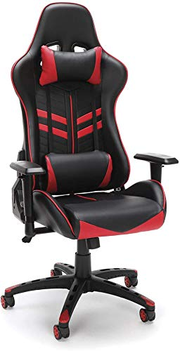 OFM ESS-6065-GRY Racing Style Gaming Chair 44; gray