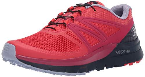Salomon Women's Sense Max 2 Trail Running Shoes, Hibiscus/Evening Blue/Cerise., 5.5