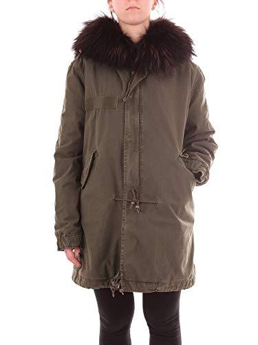 MR&MRS ITALY Luxury Fashion Damen 182PM585SC39C2042 Grün Baumwolle Mantel | Jahreszeit Outlet