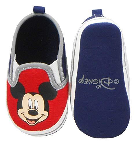 Disney Newborn/Infants Boys Mickey Mouse Slip-On Red 3-6 Months