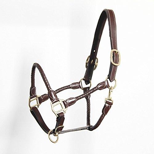 Pferdeliebe Lederhalfter -Jasmine- (Cob (Vollblut), mahagonibraun/goldfarbigen Beschlag)