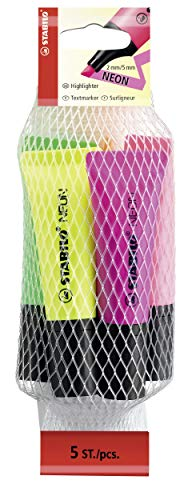 スタビロ 蛍光ペン ネオン 5色セット 72-5-2-5