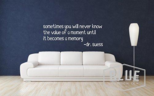 Tamengi Dr. Seuss Memory Wall Quote - Adhesivo de vinilo para pared, diseño de Dr. Seuss con cita de Dr. Seuss, calcomanía de pared de valor – calcomanía de 40 pulgadas de ancho