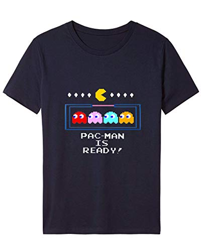 Pac-Man Is Ready T-shirt for Adults, 4 Colors, S to 2XL