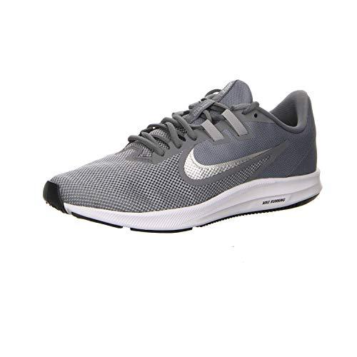 Nike Herren Downshifter 9 Laufschuhe, Grau (Cool Grey/Metallic Silver-Wolf Grey-Black-Pure Platinum-White 001), 45 EU
