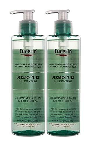 Eucerin DermoPure Oil Control, 400 ml, Gel Limpiador Facial.- PACK 2 UN.